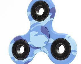Blue camo spinner 3D model
