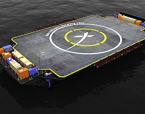 3D model SpaceX Drone Barge