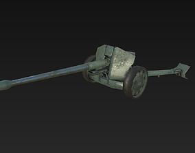 3D model Russian Military Artillery Gun