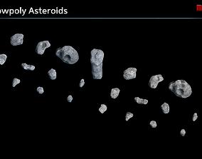 3D asset Lowpoly Asteroids
