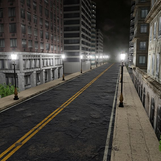 Street With Lamp