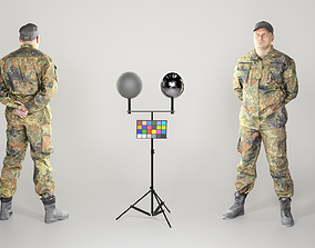 Brave man in military uniform 104 3D asset