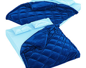 3D Mattress with pillows and blanket