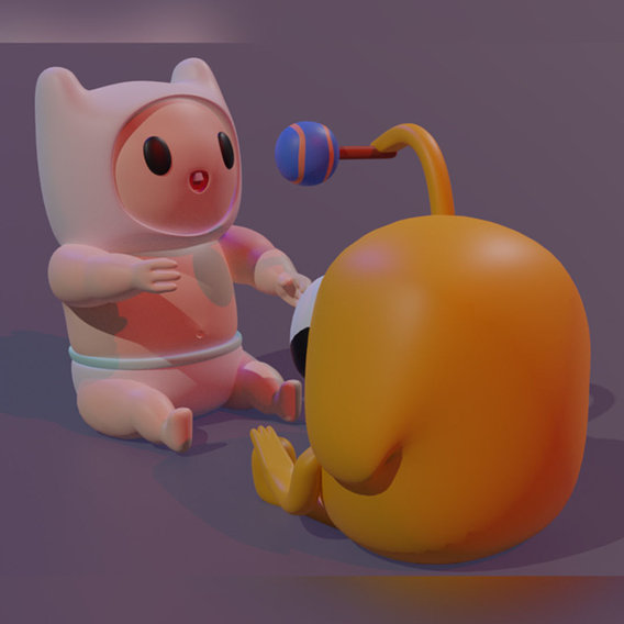 baby Finn and Jake From adventure time