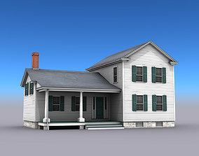 3D asset Big White House
