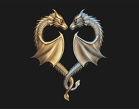 Dragon Heart Pendant 3D print model