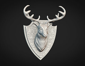 sculptures 3D printable model Deer Head