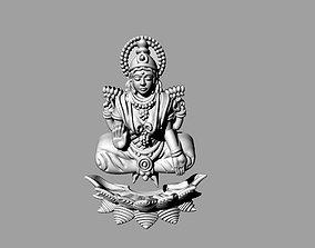 laxmi bhagwan with flower 3D printable model