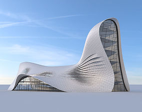 Futuristic building 3D