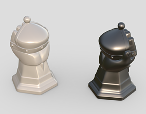 Chess Strong figures Bishop 3D print model