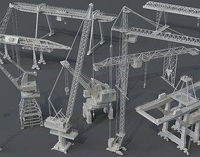 3D Cranes - 10 pieces