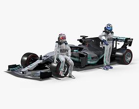 3D asset Mercedes AMG F1 W10 EQ Power 2019