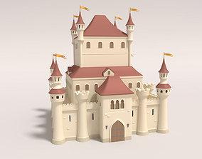 Cartoon Medieval Castle 3D architecture