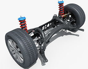 Car Suspension 02 3D