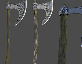 3D model Low Poly Nordic Axe