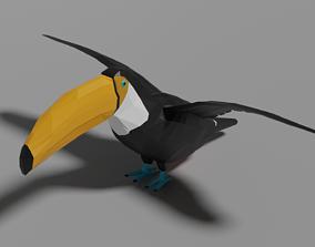 Cartoon Toucan 3D asset