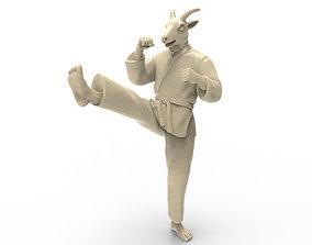 Goat Front kick 3D print model