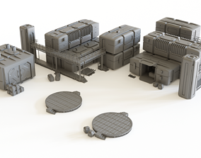 3D printable model Sci fi Colony Modules Collection for 1