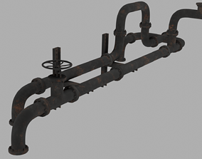 Industrial pipes Free 3D model