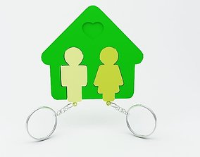 Key chain for home and couples 3D printable model