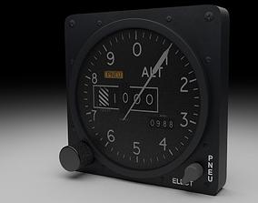 F16 Altimeter 3D model