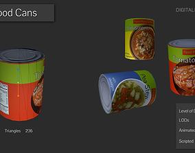 3D asset Tinned Food