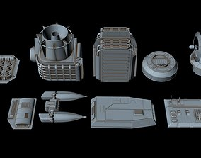 3D Big greeble collection 3 starship