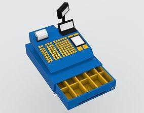 Cash register 3D model VR / AR ready