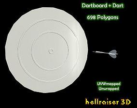 3D asset Dartboard - Includes 2 Objects