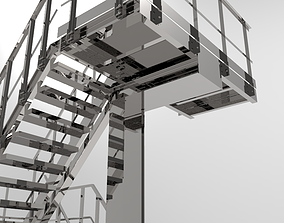 3D model Three-level staircase
