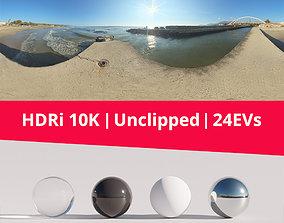 HDRi Sea Bridge and Sun 3D model