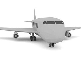 3D asset AirPlane LOWPOLY