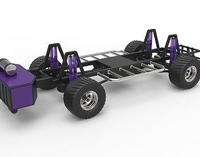 Pulling truck chassis 3D model