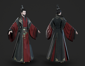 Chinese ancient official prime minister adviser 3D model 1