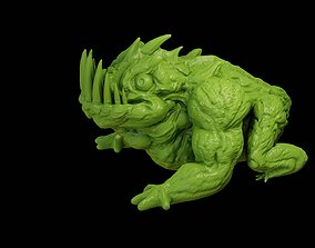 Fantasy dragon toad creature 3D print model