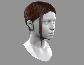 Realtime Bun and Tail Hairstyle 3D asset