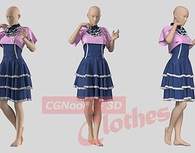 Classic Dream Dress - 37 Marvelous Designer and Clo3D