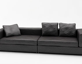 3D model Lather Sofa