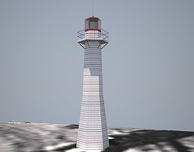 3D Point Cleveland Lighthouse Low poly