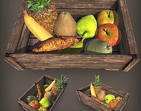3D model Fruit Crate PBR I 10 Props