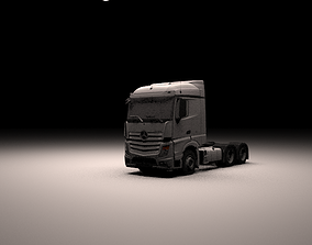 Mercedes Benz Actros MP4 3D Model with interior