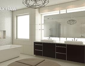 Highly detailed scene of Modern Bathroom Interior 3D