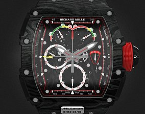 Richard Mille RM 50-03 Watch With Black Strap 3D model
