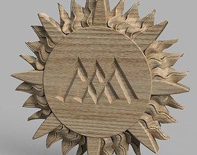 3D model Ornament 1 cnc design wood