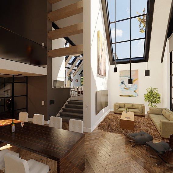 Blender Eevee Modern Villa