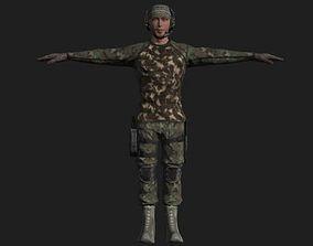 Commandos Pack 9 Military Commando Characters 3D model