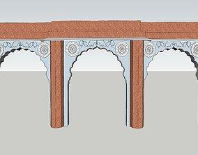 indian jodhpuri stone arch 3d moda animated