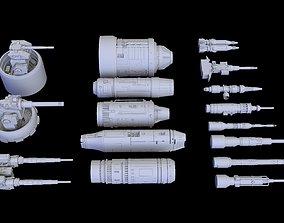Scifi Laser Engine 3D