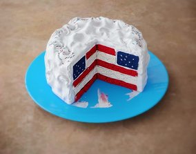 3D American National Cake