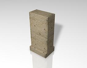Wall of rock 3D asset